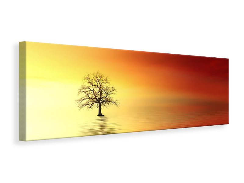 Panoramic Canvas Print The tree in the water