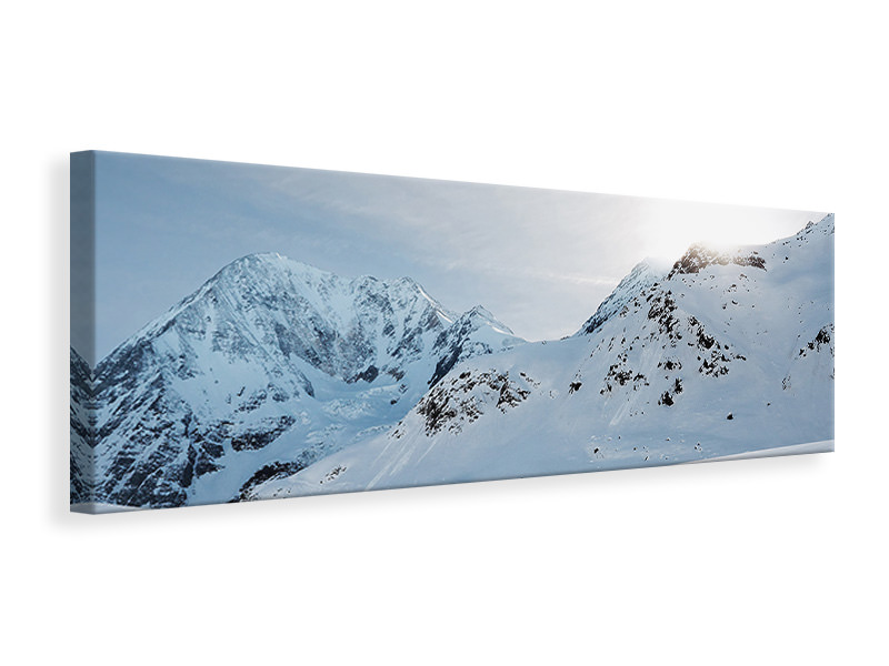 Panoramic Canvas Print Snow in the mountains
