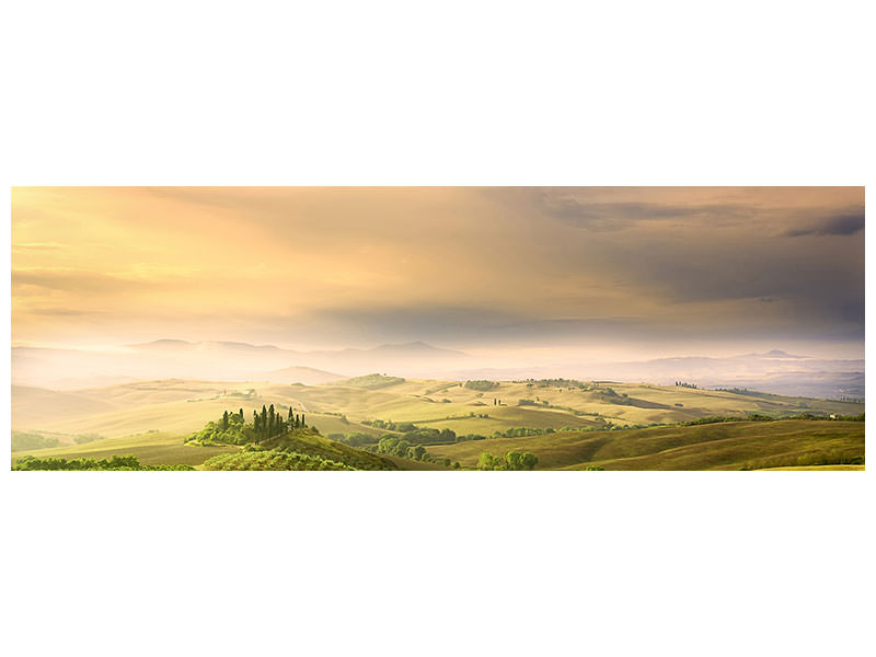 Panoramic Canvas Print Podere Belvedere Sunrise