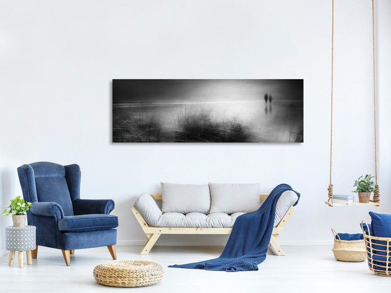 Tableau sur Toile Panoramique Everything Changes Like The Shoreline And The Sea