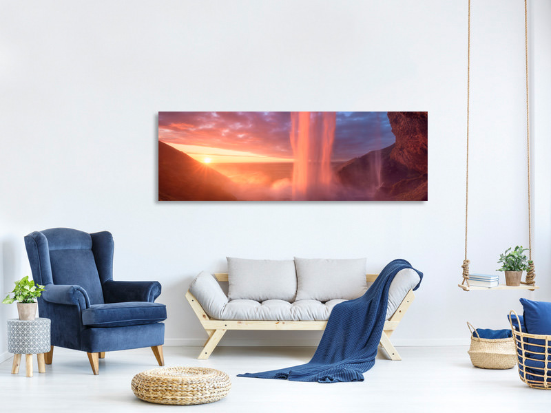 Tableau sur Toile Panoramique A Wall Of Flames