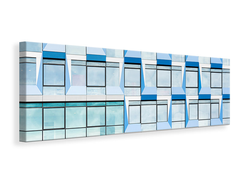 Tableau sur Toile Panoramique Blue Multiple Windows