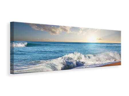 Panoramic Canvas Print The Waves Of The Sea