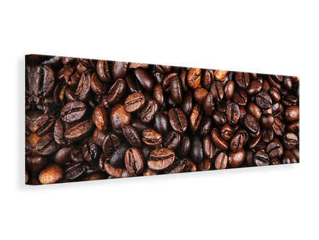 Panoramic Canvas Print Coffee Beans In XXL