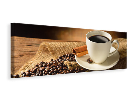 Panoramic Canvas Print Coffee Break