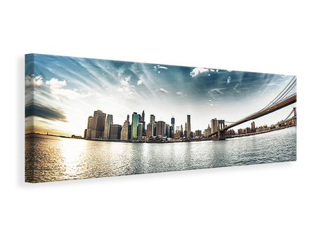Panoramic Canvas Print Brooklyn Bridge From The Other Side