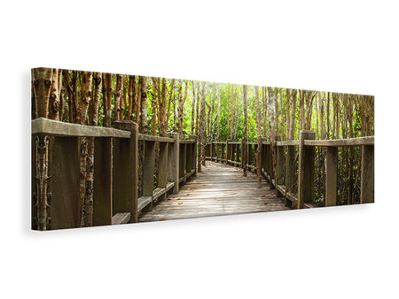 Panoramic Canvas Print Wooden Bridge