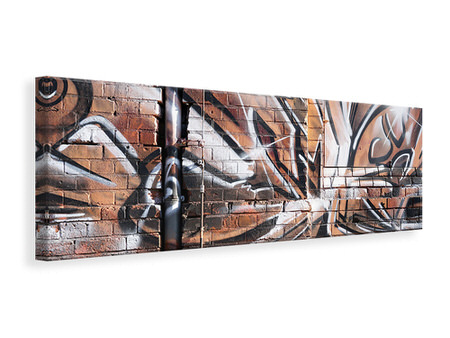 Panoramic Canvas Print Graffiti Wall