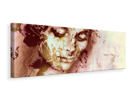 Panoramic Canvas Print Romantic Portrait Of A Beauty