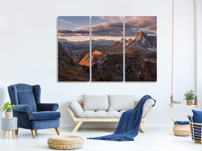 3 Piece Canvas Print Highways And Byways