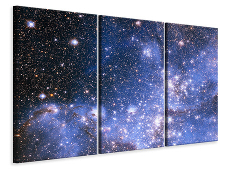 Canvasfoto 3-delig Starry Sky