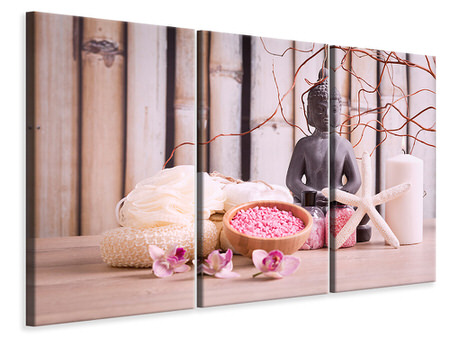 3 Piece Canvas Print Spa & Buddha