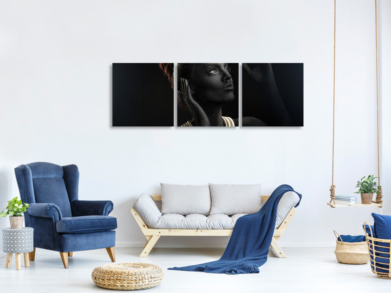 Panoramic 3 Piece Canvas Print Sofia
