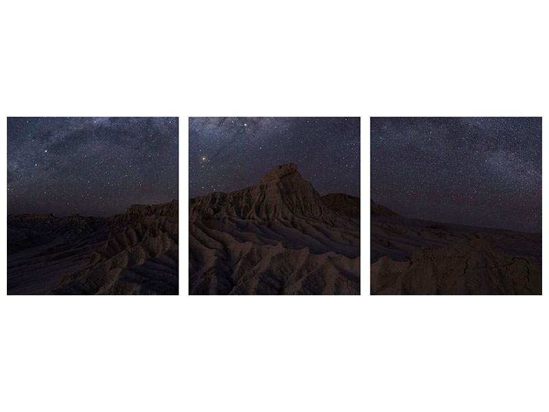 Panoramic Canvasfoto 3-delig Mungo National Park