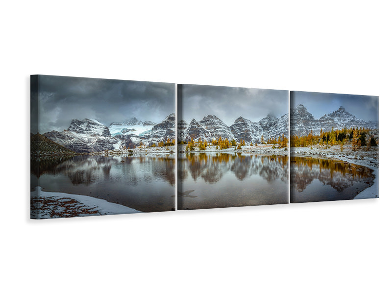 Panoramic 3 Piece Canvas Print Ring Of Ten Peaks