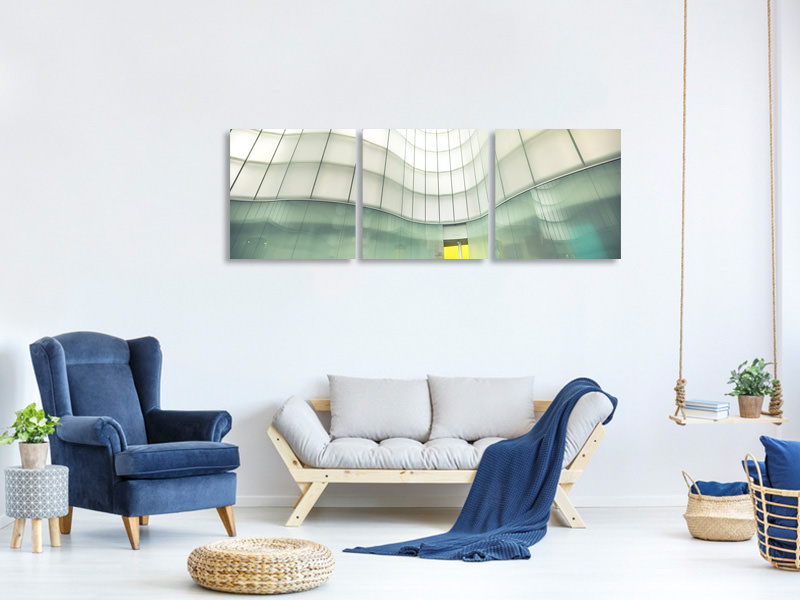 Panoramic 3 Piece Canvas Print Lights And Colors