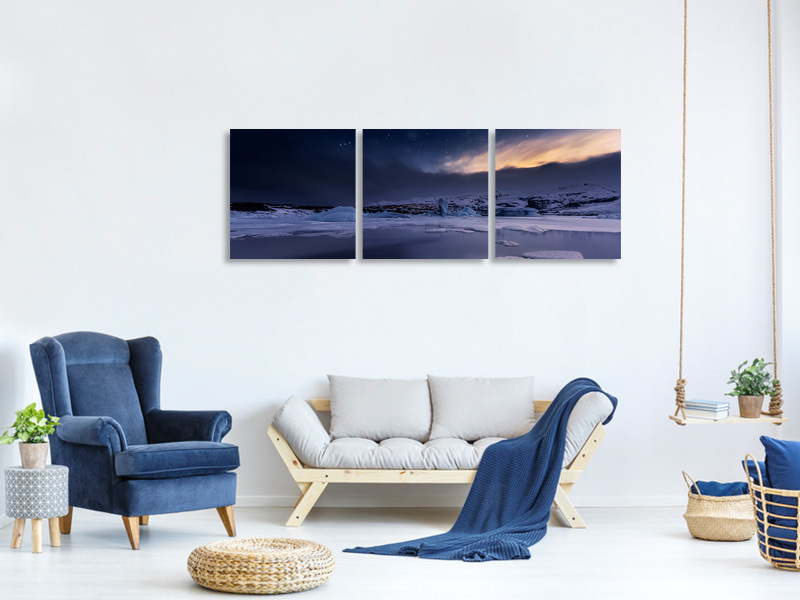 Panoramic 3 Piece Canvas Print At The End Of The Day
