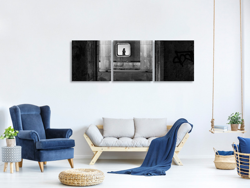 Panoramic 3 Piece Canvas Print Accessible Everywhere