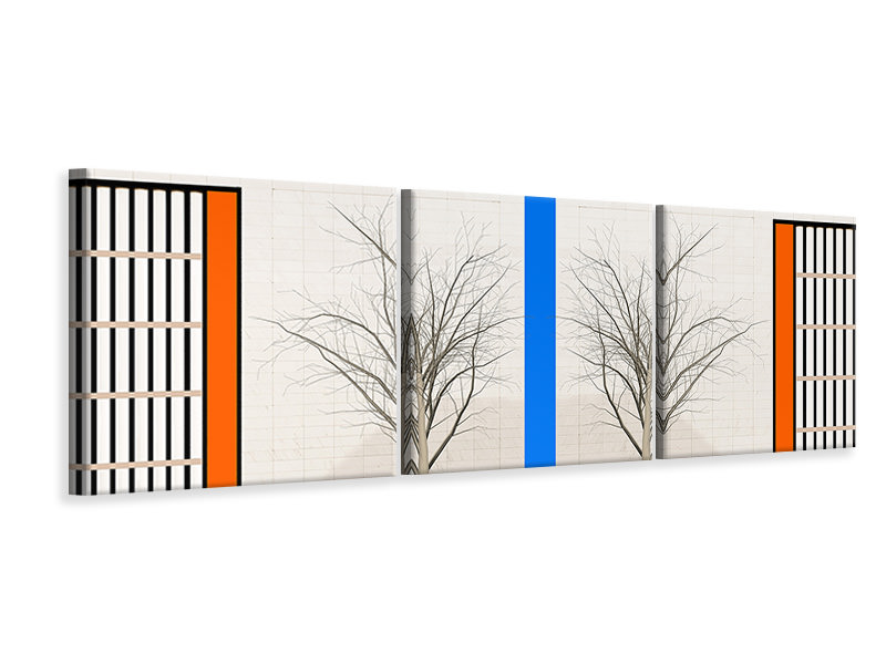 Panoramic 3 Piece Canvas Print Twins