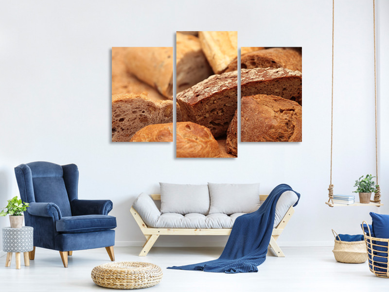 Modern 3 Piece Canvas Print The breads