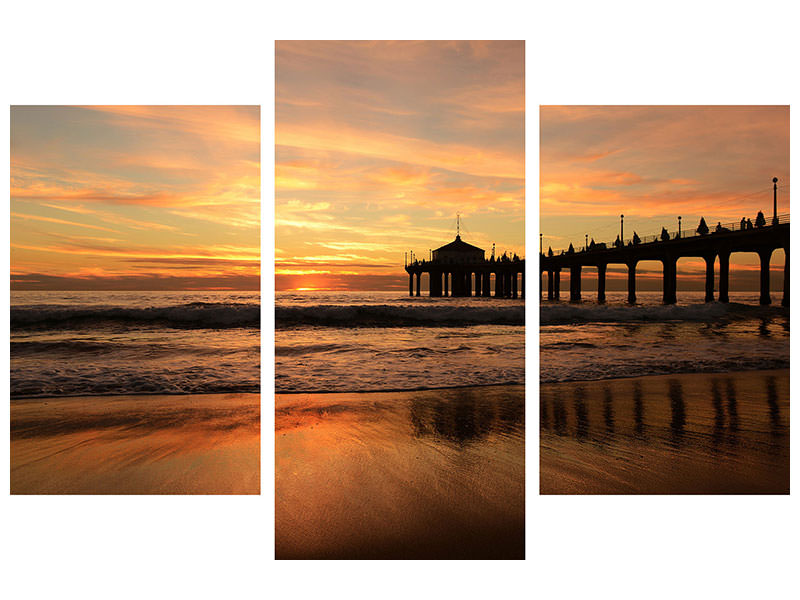 Modern 3 Piece Canvas Print A place on the beach to dream