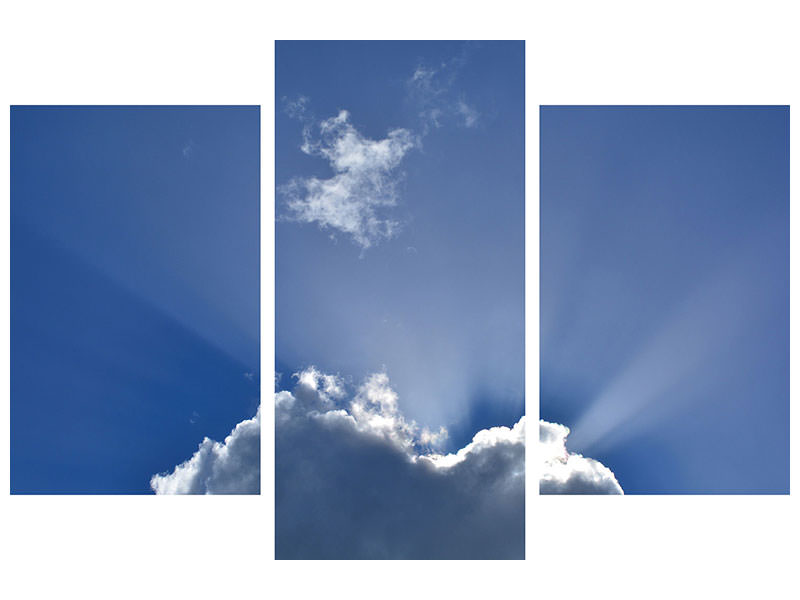 Modern 3 Piece Canvas Print A clouds picture