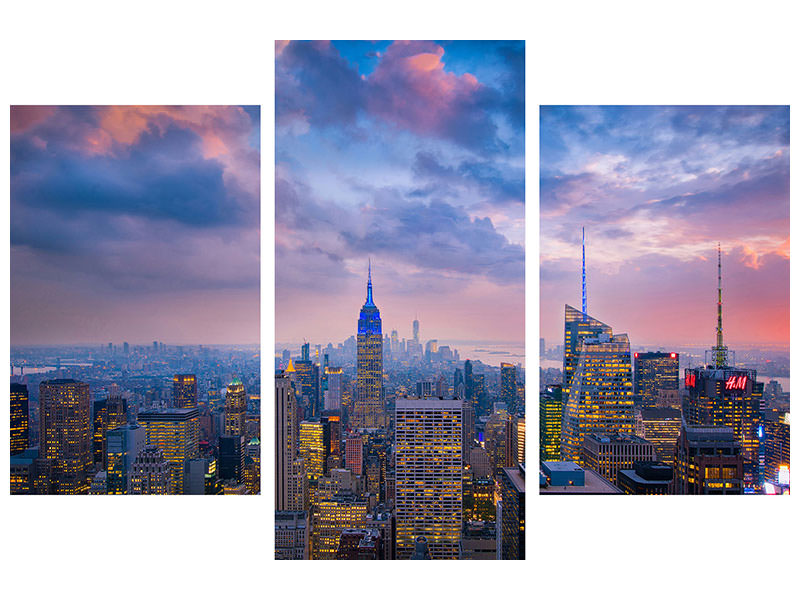 Modern 3 Piece Canvas Print Top Of The Rock