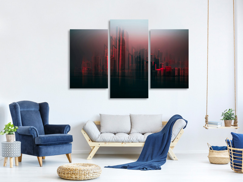 Modern 3 Piece Canvas Print Abu Dhabi Skyline
