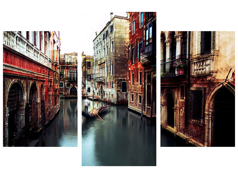 Canvasfoto 3-delig modern The Gondolier