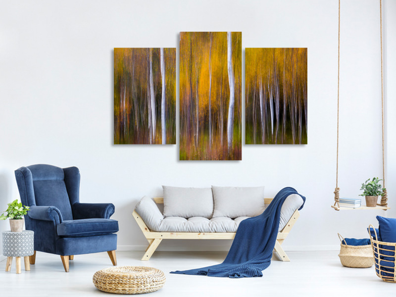 Modern 3 Piece Canvas Print Abstract Fall