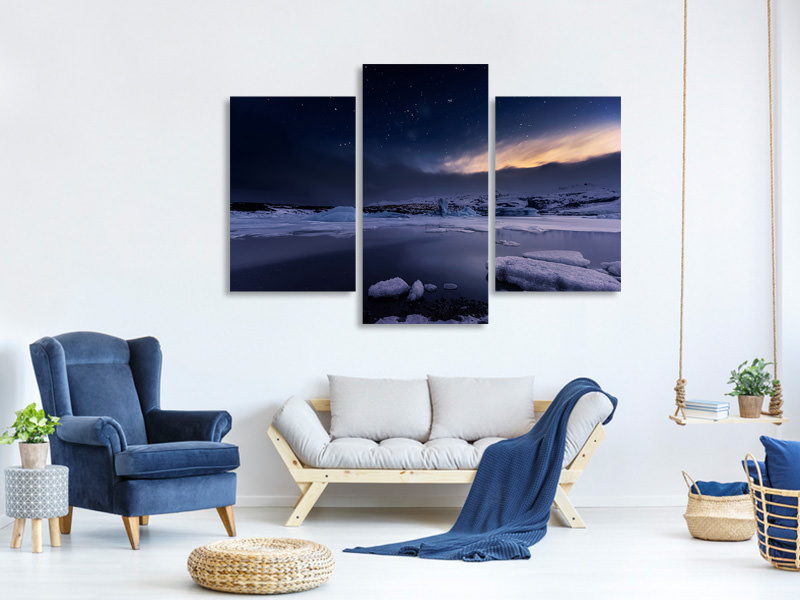 Modern 3 Piece Canvas Print At The End Of The Day
