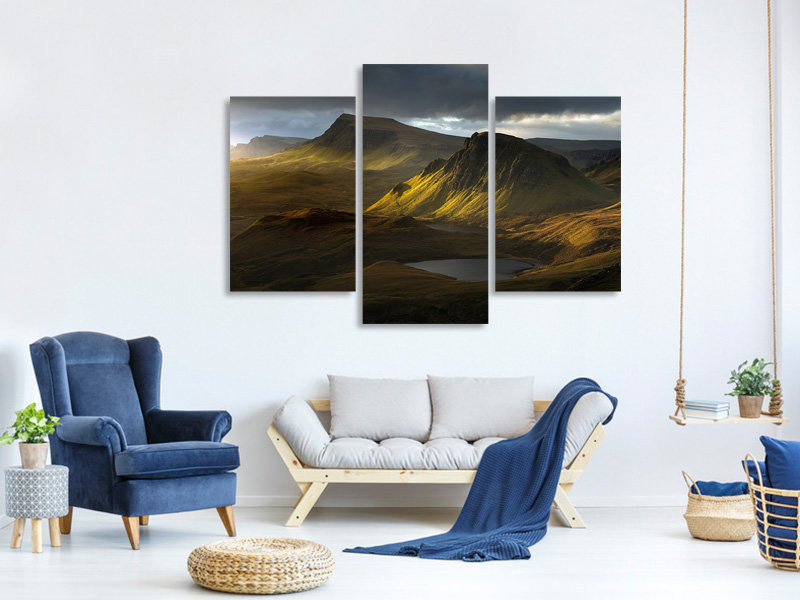 Modern 3 Piece Canvas Print Adagio