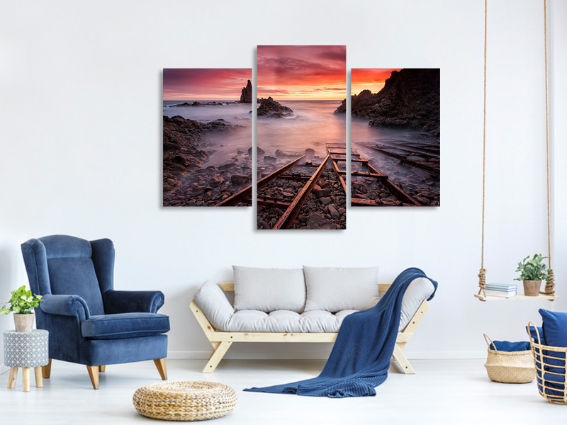 Modern 3 Piece Canvas Print The Sirens Call Me