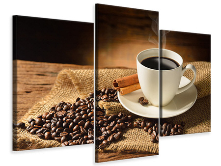 Modern 3 Piece Canvas Print Coffee Break