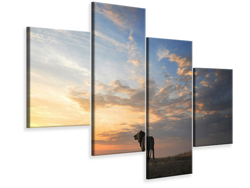 Modern 4 Piece Canvas Print End Of The Day