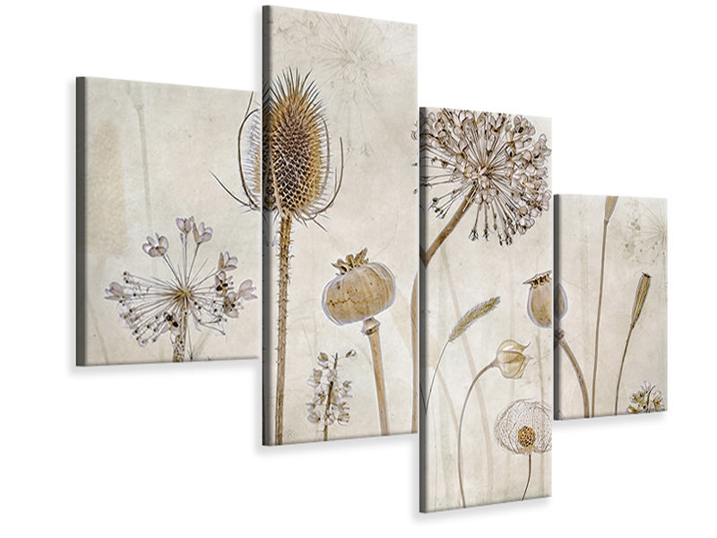 Modern 4 Piece Canvas Print Growing Old