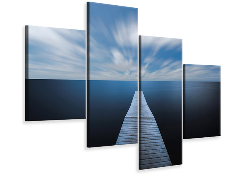 Modern 4 Piece Canvas Print On The Edge Of The World