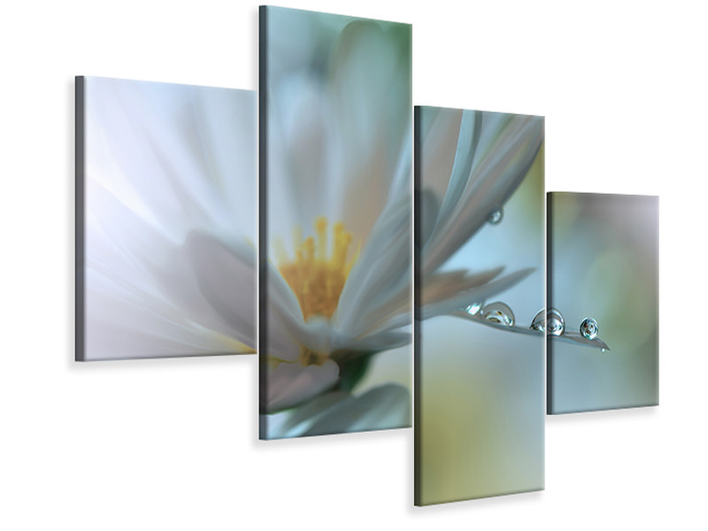 Modern 4 Piece Canvas Print Light Touch