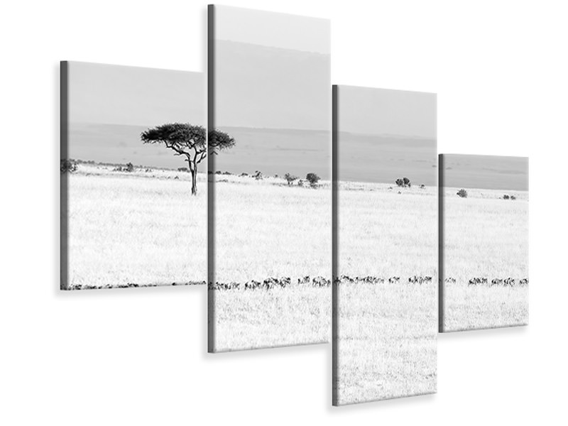 Modern 4 Piece Canvas Print Marching