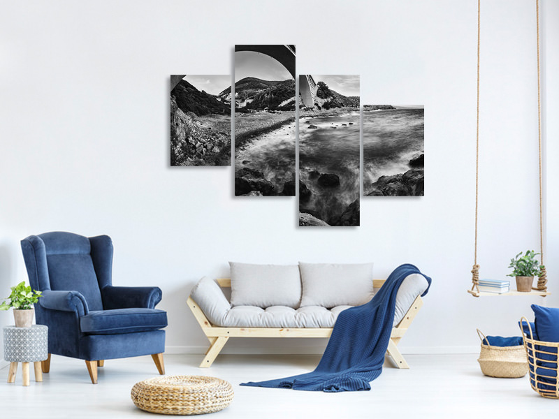 Modern 4 Piece Canvas Print Caligna
