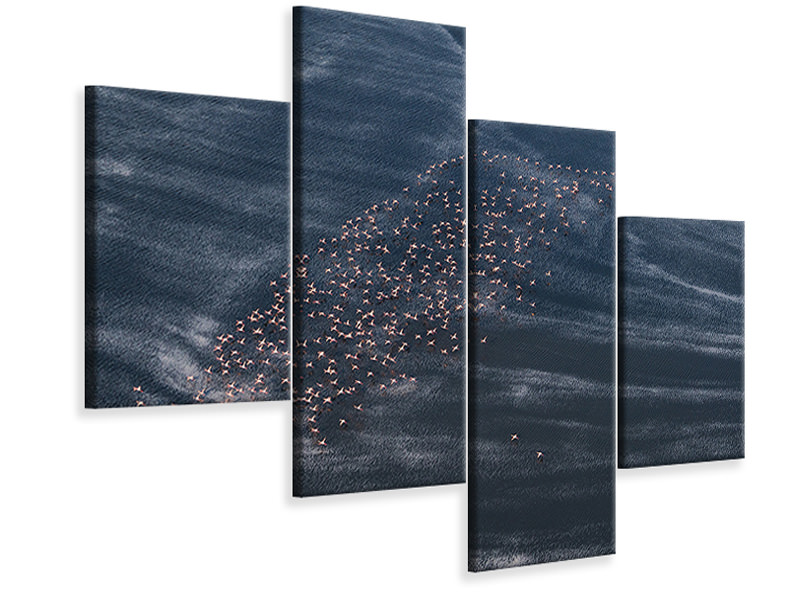 Modern 4 Piece Canvas Print Wave Runner II