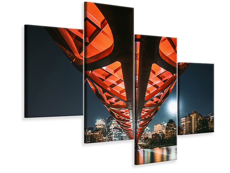 Modern 4 Piece Canvas Print The Main Artery