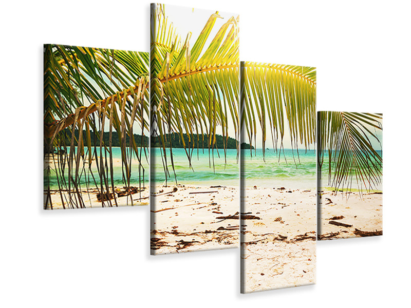 Modern 4 Piece Canvas Print Swing Out Of The Hammock.