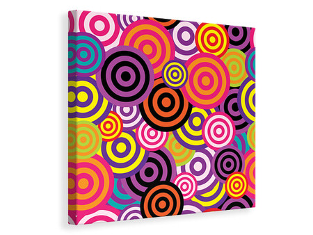 Canvas print Colorful retro circles