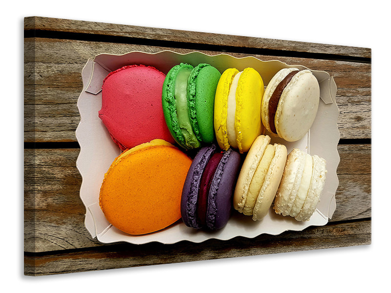 Canvasfoto Selection macaroons