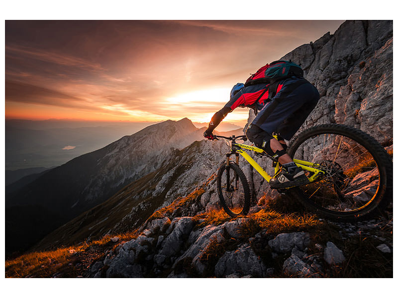 Canvas print Golden Hour High Alpine Ride