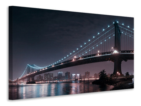 Canvas print The 2 Lovers Under Manhattan Bridge