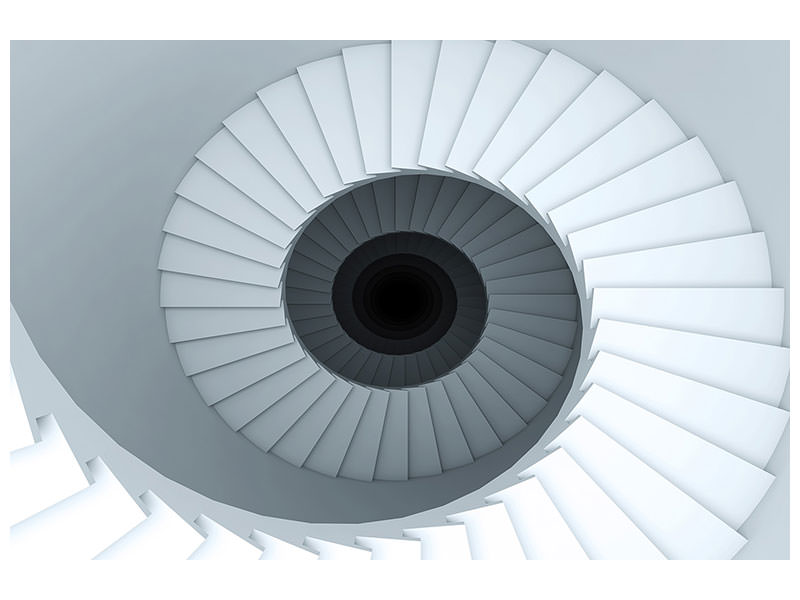 Canvasfoto 3D Spiral Staircase