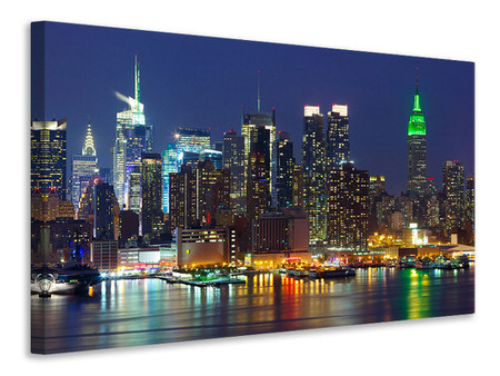 Canvasfoto Skyline New York Midtown At Night