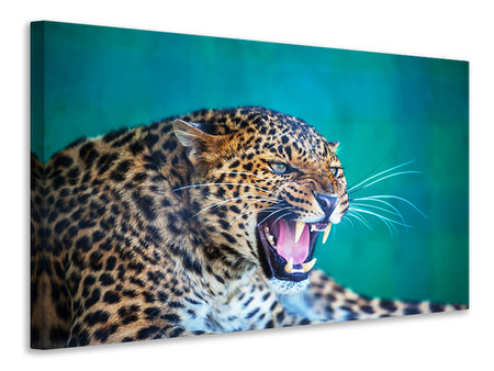 Canvas print Attention Leopard